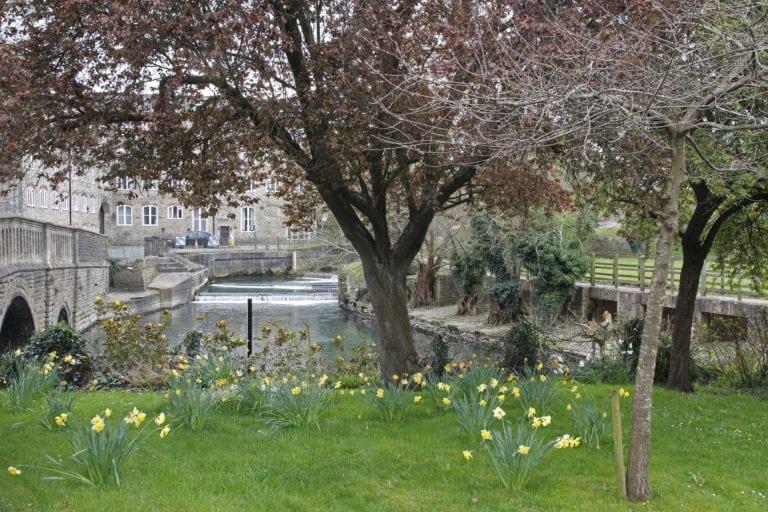 By the River Avon in Malmesbury.