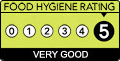 We have been awarded a 5 star rating by the Food Standards Agency