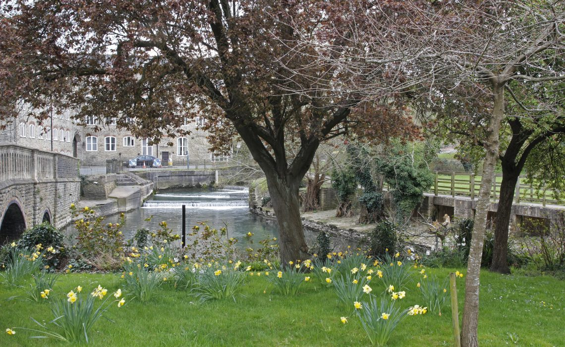 By the River Avon in Malmesbury.